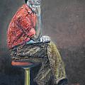 Portrait Of Ali Akrei - The Painter by Raija Merila