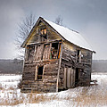 Portrait Of An Old Shack - Agriculural Buildings And Barns by Gary Heller