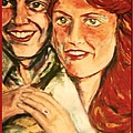 Portrait Of Andrew And Sarah by Joan-Violet Stretch