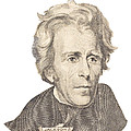 Portrait Of Andrew Jackson On White Background by Keith Webber Jr