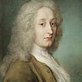Portrait Of Antoine Watteau 1684-1721 Pastel On Paper by Rosalba Giovanna Carriera