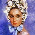 Portrait Of Audrey Hepburn by Charmaine Zoe