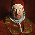 Portrait Of Benedict Xiv by Pierre Subleyras