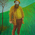 Portrait Of Claude Monet by Gene Huebner