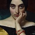 Portrait Of Clementine by Henri Lehmann