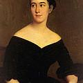 Portrait Of Cornelia Knott Miltenberger by Jacques Amans