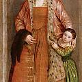 Portrait Of Countess Livia Da Porto Thiene And Her Daughter Deidamia by Paolo Veronese