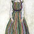 Portrait Of Edith Schiele, The Artists by Egon Schiele