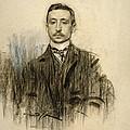 Portrait Of Eduardo Chicharro by Ramon Casas