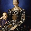 Portrait Of Eleanor Of Toledo With Her Son Giovanni De' Medici by Agnolo Bronzino