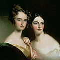 Portrait Of Ellen And Mary Mcilvaine, 1834 Oil On Canvas by Thomas Sully