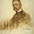 Portrait Of Emile Bertaux by Ramon Casas