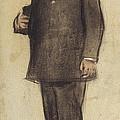 Portrait Of Emili Vilanova by Ramon Casas