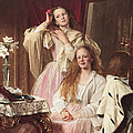 Portrait Of Emma And Frederica Bankes by Henry Tanworth Wells