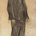 Portrait Of Enric Morera by Ramon Casas