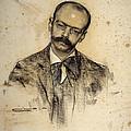 Portrait Of Gabriel Alomar by Ramon Casas