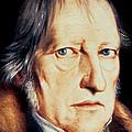 Portrait Of Georg Wilhelm Friedrich Hegel by Jacob Schlesinger