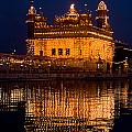 Portrait Of Golden Temple At Night by Devinder Sangha