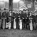 Portrait Of Golf Caddies by Underwood Archives