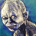 Portrait Of Gollum by Alban Dizdari