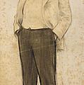 Portrait Of Hermenegild Miralles by Ramon Casas
