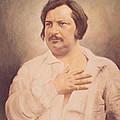 Portrait Of Honore De Balzac by French School