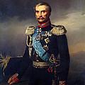 Portrait Of Illarion Vasilyevich Vasilchikov by Georg Bottman