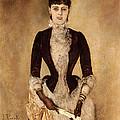 Portrait Of Isabella Reisser by Anton Romako