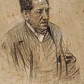 Portrait Of Iscle Soler by Ramon Casas