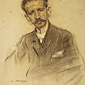Portrait Of Jacinto Octavio Picon by Ramon Casas