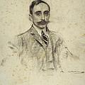 Portrait Of Joan Ventosa by Ramon Casas