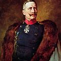 Portrait Of Kaiser Wilhelm II 1859-1941 by Bruno Heinrich Strassberger
