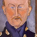 Portrait Of Leon Bakst by Amedeo Modigliani