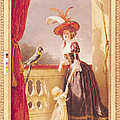 Portrait Of Louise-elisabeth De France 1727-59 Duchess Of Parma And Her Son Ferdinand 1751-1802 by Adelaide Labille-Guiard