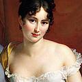 Portrait Of Madame Recamier  by Francois Pascal Simon Baron Gerard