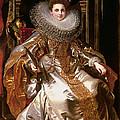 Portrait Of Maria Serra Pallavicino by Peter Paul Rubens