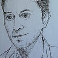 Portrait Of Mark Owen by Joan-Violet Stretch