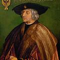 Portrait Of Maximilian I by Albrecht duerer