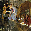 Portrait Of Mlle Fiocre In The Ballet La Source by Edgar Degas