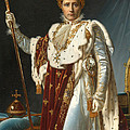 Portrait Of Napoleon In Coronation Robes by Francois Gerard