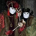 Venetian Carnival - Portrait Of Nobles by Zina Zinchik