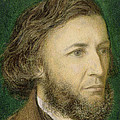 Portrait Of Robert Browning by Dante Charles Gabriel Rossetti
