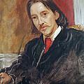 Portrait Of Robert Louis Stevenson 1850-1894 1886 Oil On Canvas by Sir William Blake Richmond