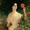 Portrait Of Sofia Andreyevna Shuvalova by Karl Pavlovich Bryullov