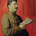 Portrait Of Stalin by Isaak Israilevich Brodsky