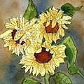 Portrait Of Sunflowers by Maria Hunt
