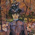 Portrait Of Suzanne Valadon by Toulouse-Lautrec