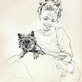 Portrait Of Sylwia by Anna Ewa Miarczynska