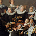 Portrait Of The Painter Andries Van Bochoven And His Family by Andries Van Bochoven