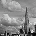 Portrait Of The Shard Black And White Version by Gary Eason